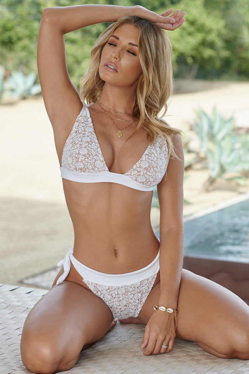 White Lace Bikini - Club L London