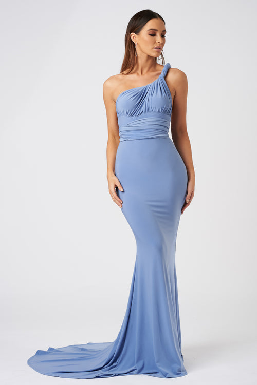 36a0cd3a473 Powder Blue Multiway Fishtail Maxi Dress