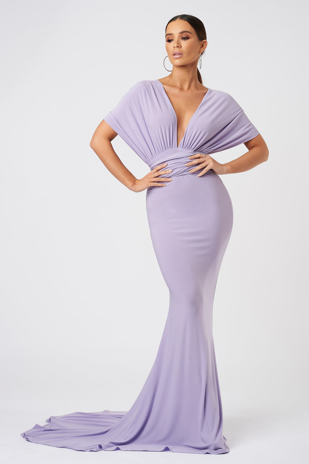 Lilac Multiway Fishtail Maxi Dress - Club L London