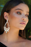 Silver Sitara Earrings - Club L London