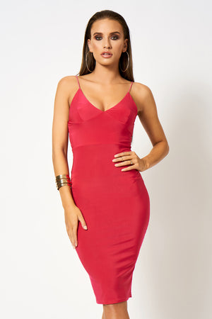 Pink Cami Midi Dress [product_collection] - Club L London ClubL