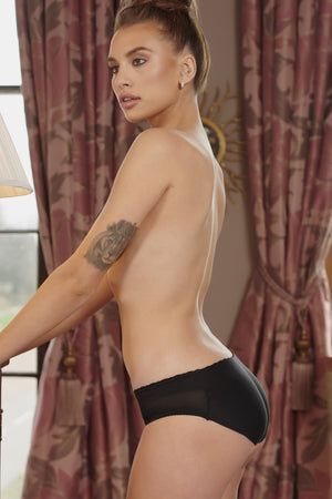 Black Just Peachy Bum Lift Briefs - Club L London