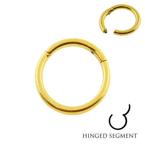 Gold plated full hoop