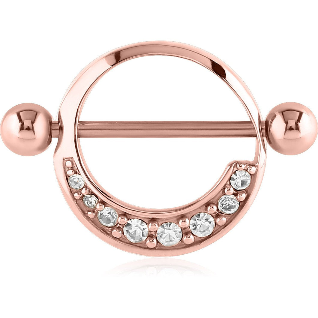 Rose Gold eight Swarovski ring
