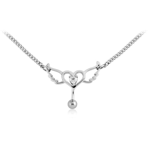 Surgical Heart with wings waist chain