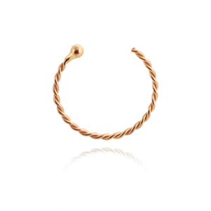 Braided 16K Rose Gold hoop