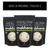 The Healthy Cravings Co Roasted Makhana - Basil & Oregano