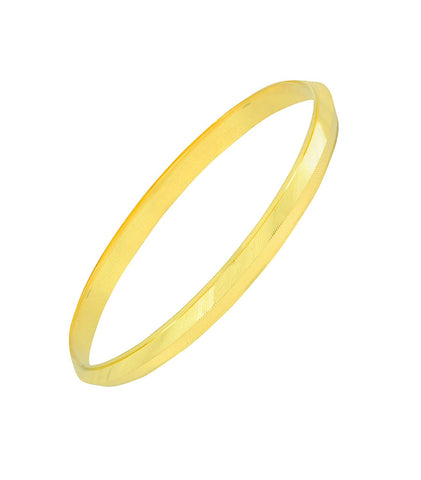 Laser V Nakshi 22K Gold Brass Punjabi Sardardji Sikh Kada Bangle Men