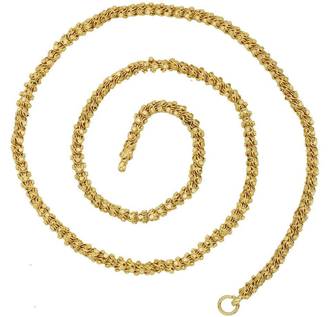 "22K Gold Plated 24"" Chain For Men Women"