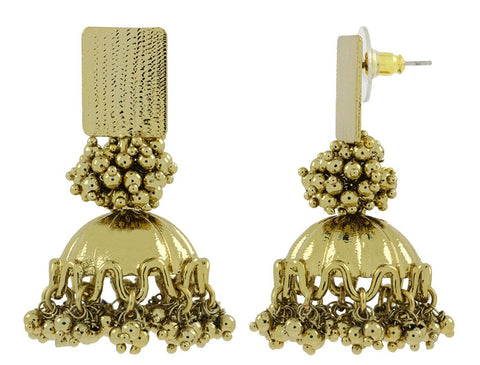 Ethnic Antique Gold Plated Jhumki Earring For Women