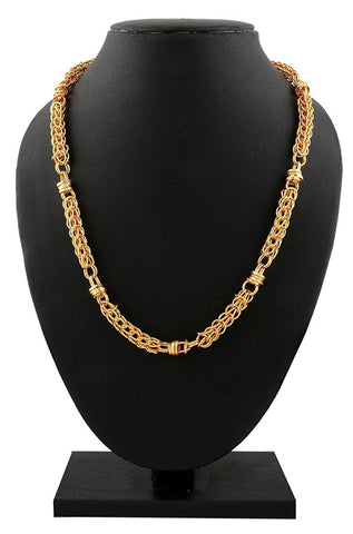 "22K Gold Plated 3D Thick Multi Links 20"" Chain for Men"