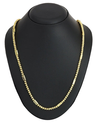 "22K Gold Plated Chain 24"" For Men Women"