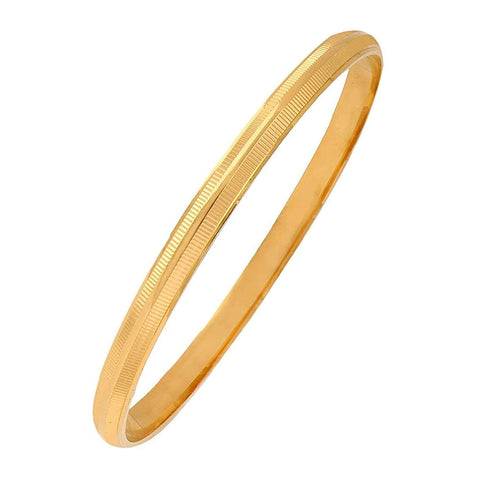 22K Gold Plated Stripe Punjabi Sardarji Sikkh Kada Bangle Bracelet