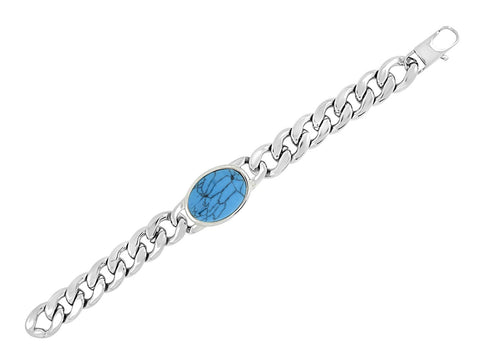 Salman Khan Curb Cuban 316L Surgical Stainless Steel Bracelet For Men