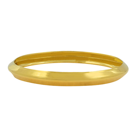 Punjabi Sikh Sardarji 22K Gold Plated Brass Kada Bangle For Men