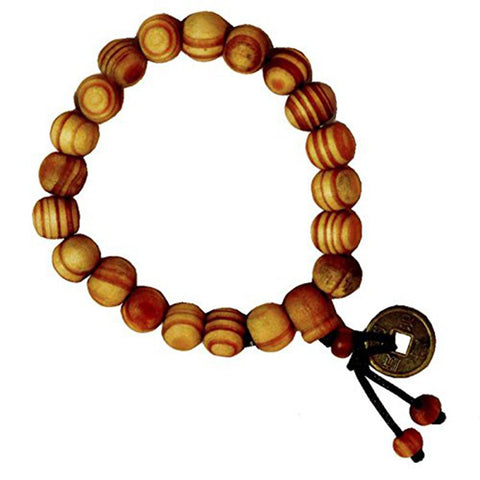 stylish brown wooden beads stackable adjustable bracelet boys men