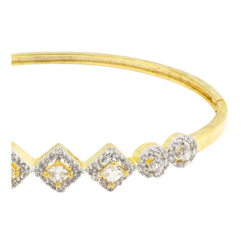 Openable Princess American Diamond Cz Gold Bangle Bracelet Kada Women