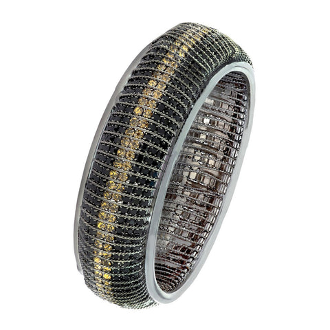 Designer Filigree Gold Black Silver Plated Bangle Kada For Girls Women