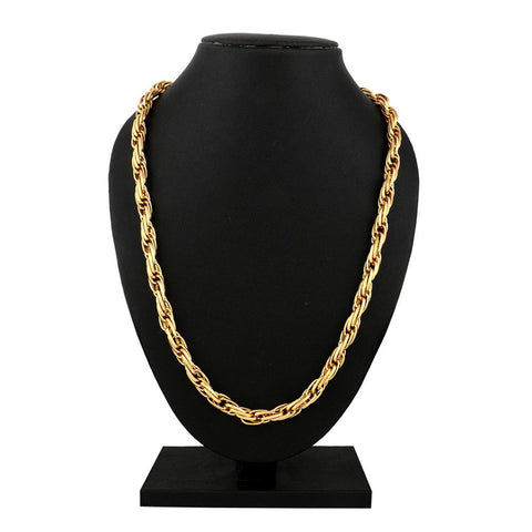 "22K Gold Plated Honey Singh Multi Links Broad Chain 24"" For Men"