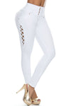 Pantalon Colombiano Pitbull PL6602 Blanco