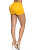 Short Colombiano Pitbull Jeans SP6572 Amarillo