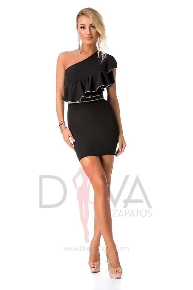 Vestido mini color negro marca BBY R-041