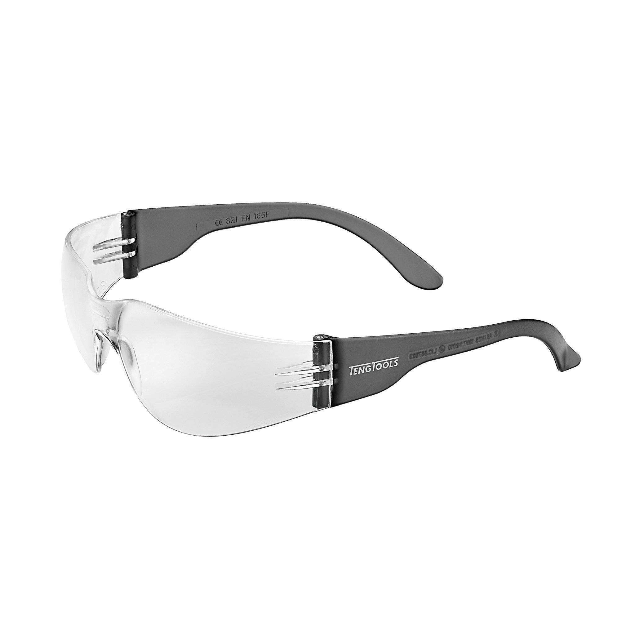 SAFETY GLASSES CLEAR LENS SCRATCH RESISTANT - Teng Tools USA
