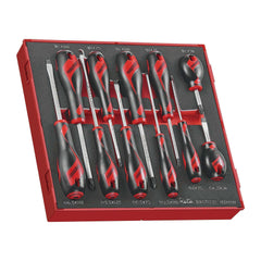Teng Tools - 11 Piece Mixed Screwdriver Set (Flat, PH, PZ,) in EVA Tray - TEN-O-TED911N - Teng Tools USA