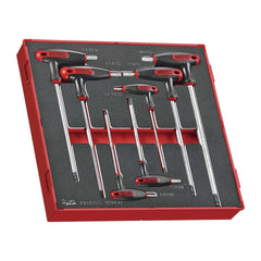 Teng Tools TEDHEX7 - 7 Piece T Handle Hex Key Set in EVA Tray - Teng Tools USA