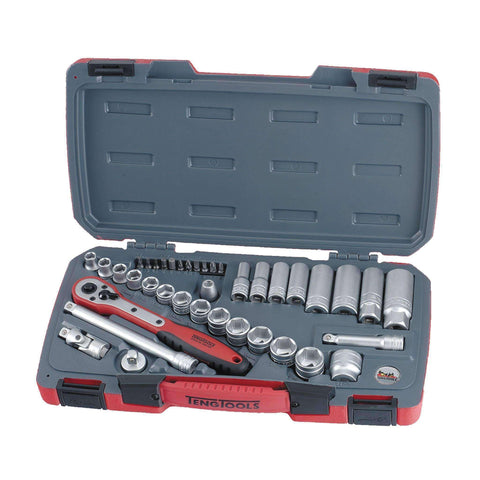Teng Tools - 39 Piece 3/8 inch Drive Regular and Deep Metric Socket Set - TEN-O-T3839 - Teng Tools USA