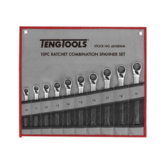Teng Tools 6510RMM - 10 Piece Ratchet Spanner Set 8-19mm - Teng Tools USA