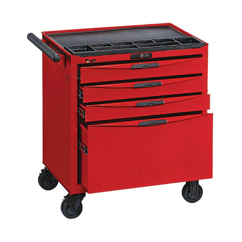 Teng Tools - 4 Drawer 8 Series Roller Cabinet - TEN-O-TCW804N - Teng Tools USA