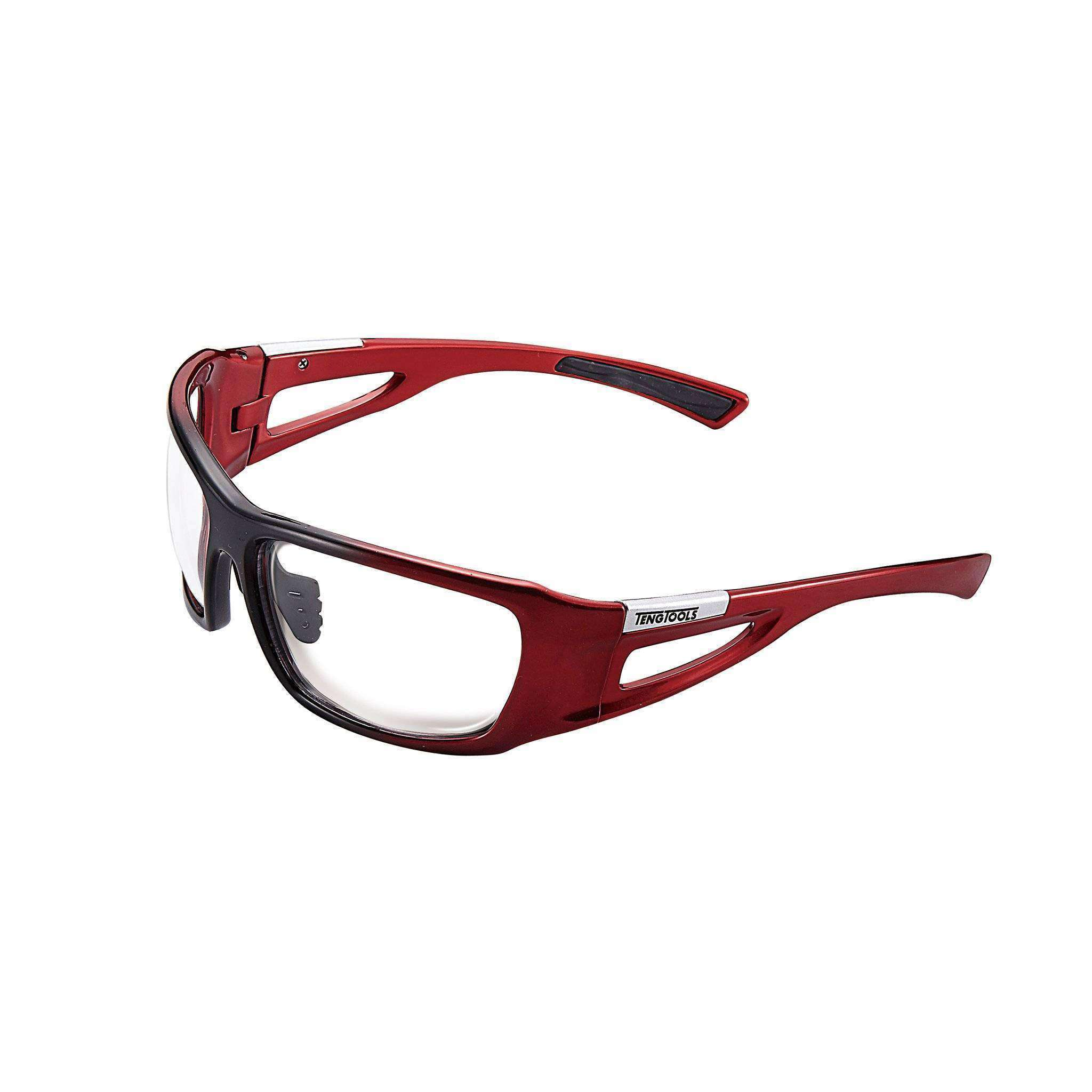 Red Safety Glasses - Clear Lenses - Teng Tools SG001 - Teng Tools USA