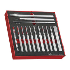 Teng Tools - 14 Piece Punch and Chisel Set in EVA Tray - TEN-O-TEDPC14 - Teng Tools USA