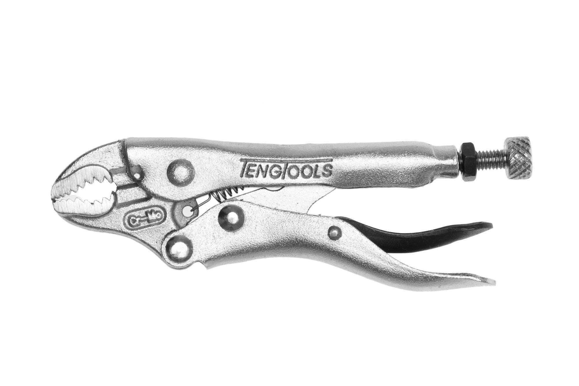 4 Inch Plated, Round & Flat Power Grip Locking Pliers - Teng Tools 401-4 - Teng Tools USA