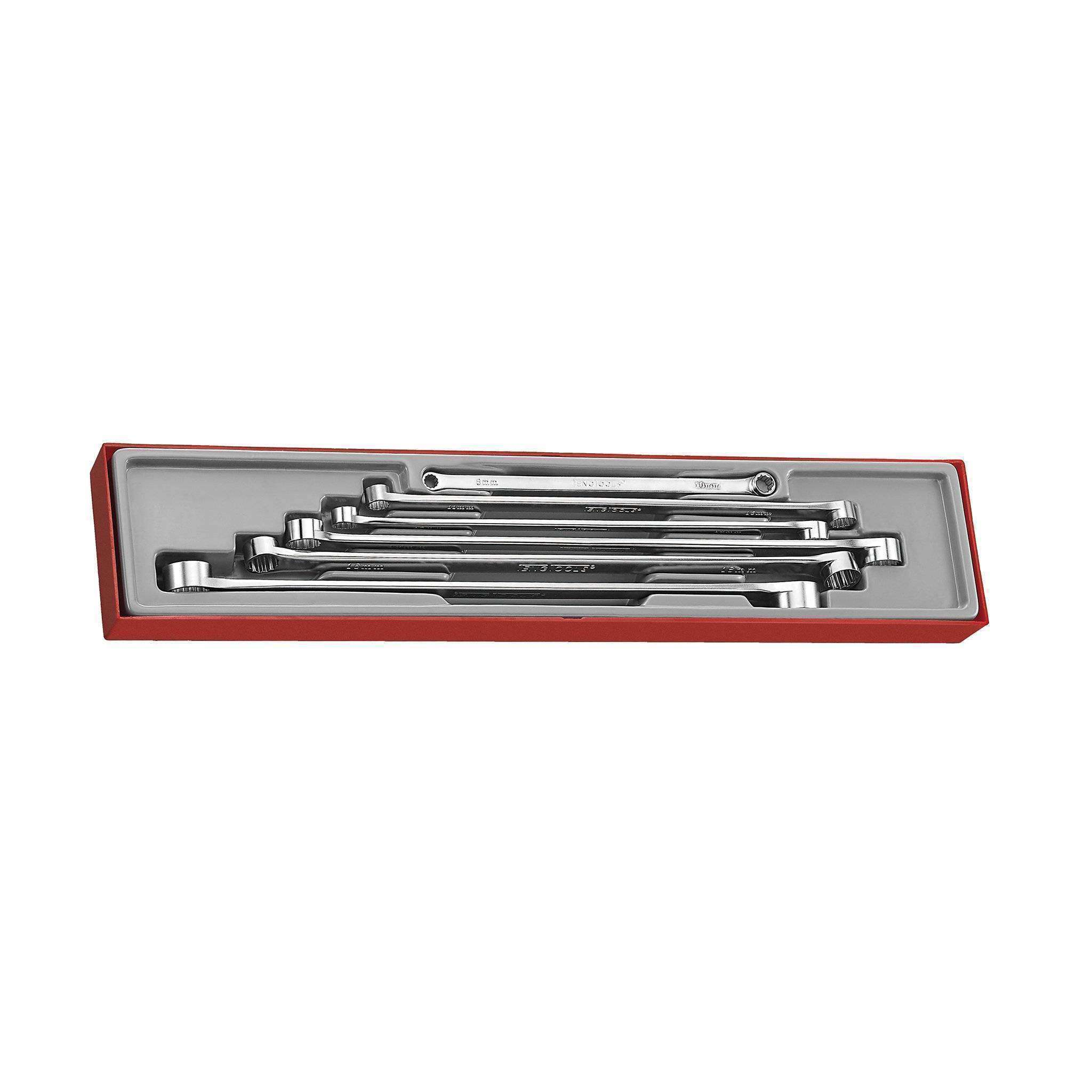 Teng Tools TTXFLS06 - 6 Piece Extra Long Box EndDouble Ring Wrench Set - Teng Tools USA