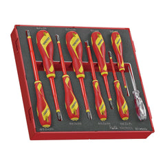 Teng Tools TEDV909N - 9 Piece 1,000 Volt Insulated Screwdriver Set in EVA Tray - Teng Tools USA