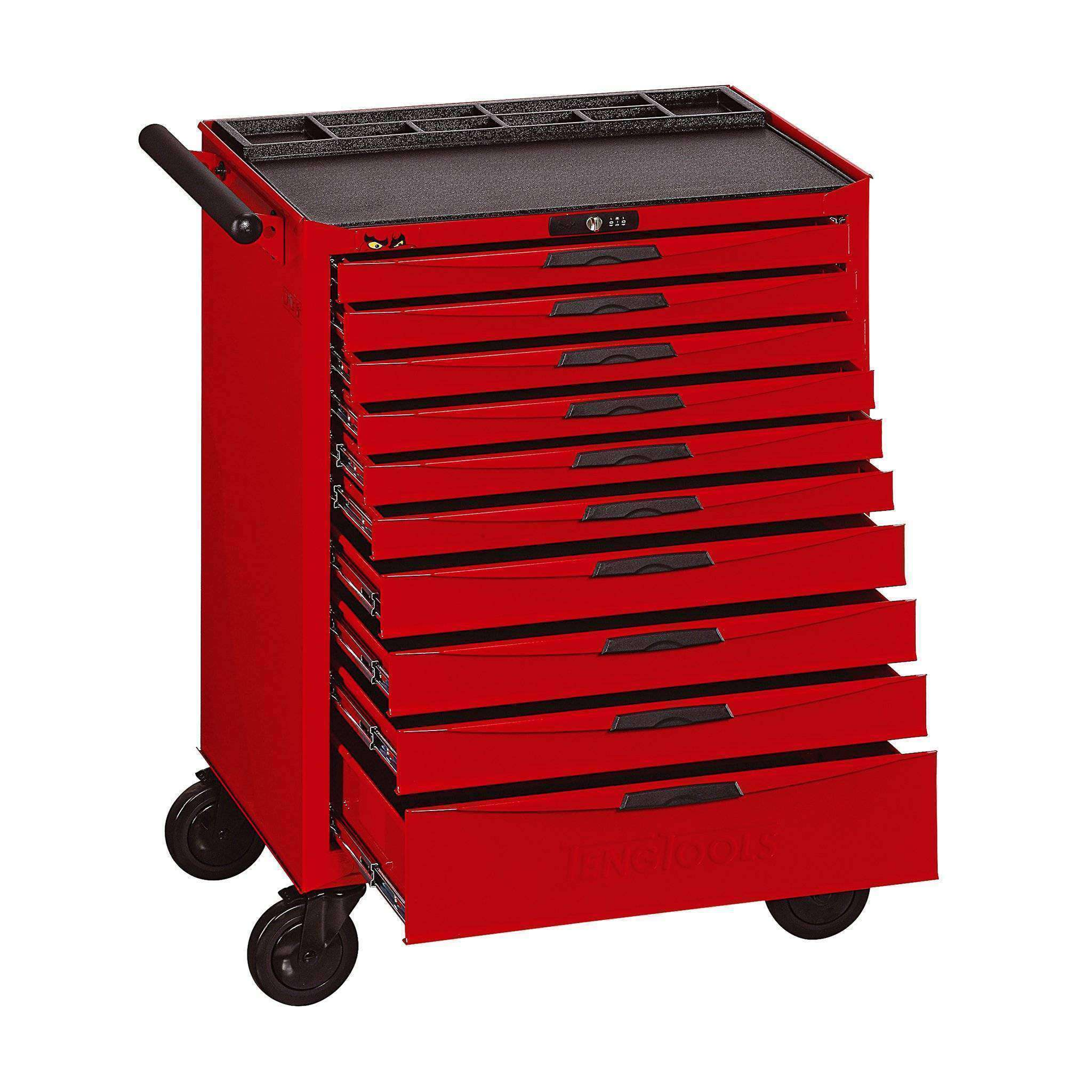 i anodized black red pulls drawers tool cabinet white gloss drawer body