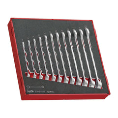 Teng Tools - 12 Piece Anti Slip Combination Wrench Set in EVA Tray - TEN-O-TED8012 - Teng Tools USA