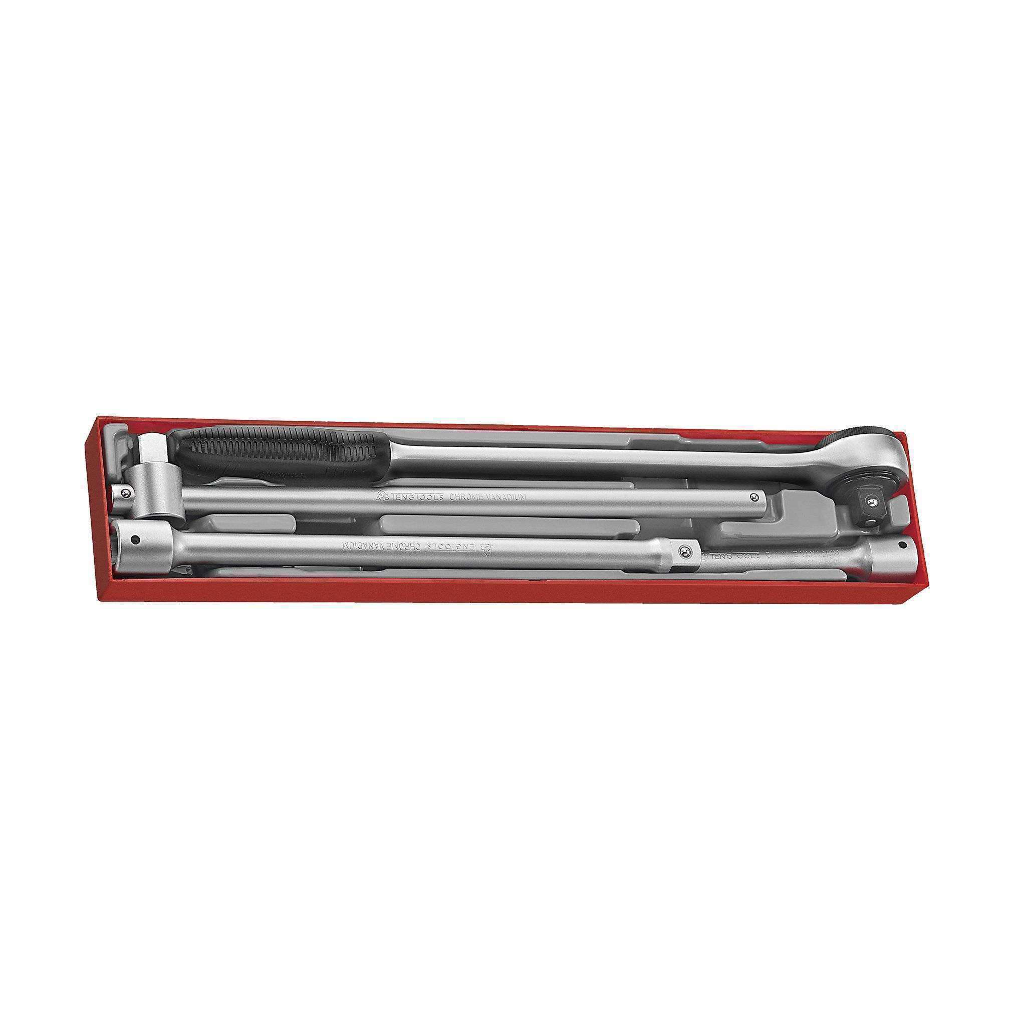 Teng Tools TTX3404 - 4 Piece 3/4 inch Drive Ratchet and Accessories Set - Teng Tools USA