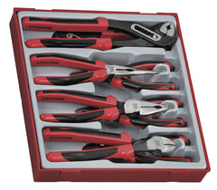 Teng Tools TTD441-T - 8 Piece TPR Grip Plier Set - Teng Tools USA