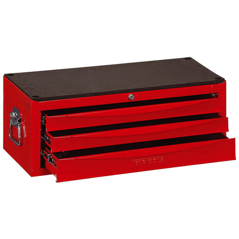 Teng Tools 3 Drawer Professional Portable Steel Lockable Red SV Middle Tool Box - TC803USV