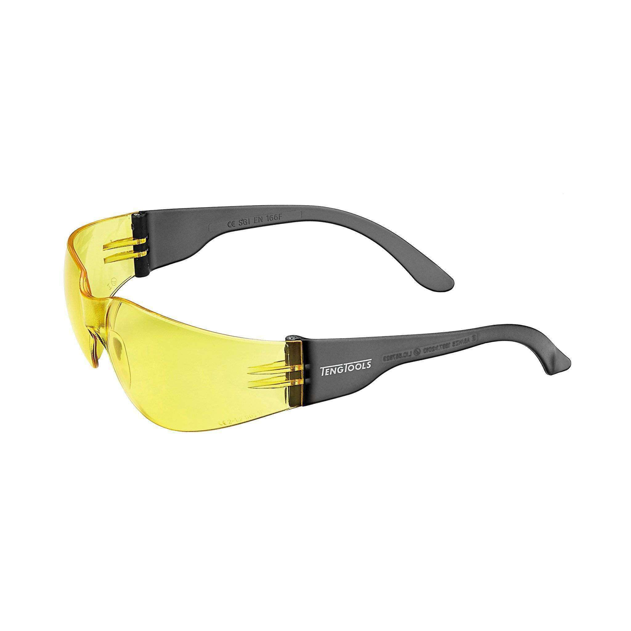 SAFETY GLASSES YELLOW LENS ANTI FOG / SCRATCH RESISTANT - Teng Tools USA