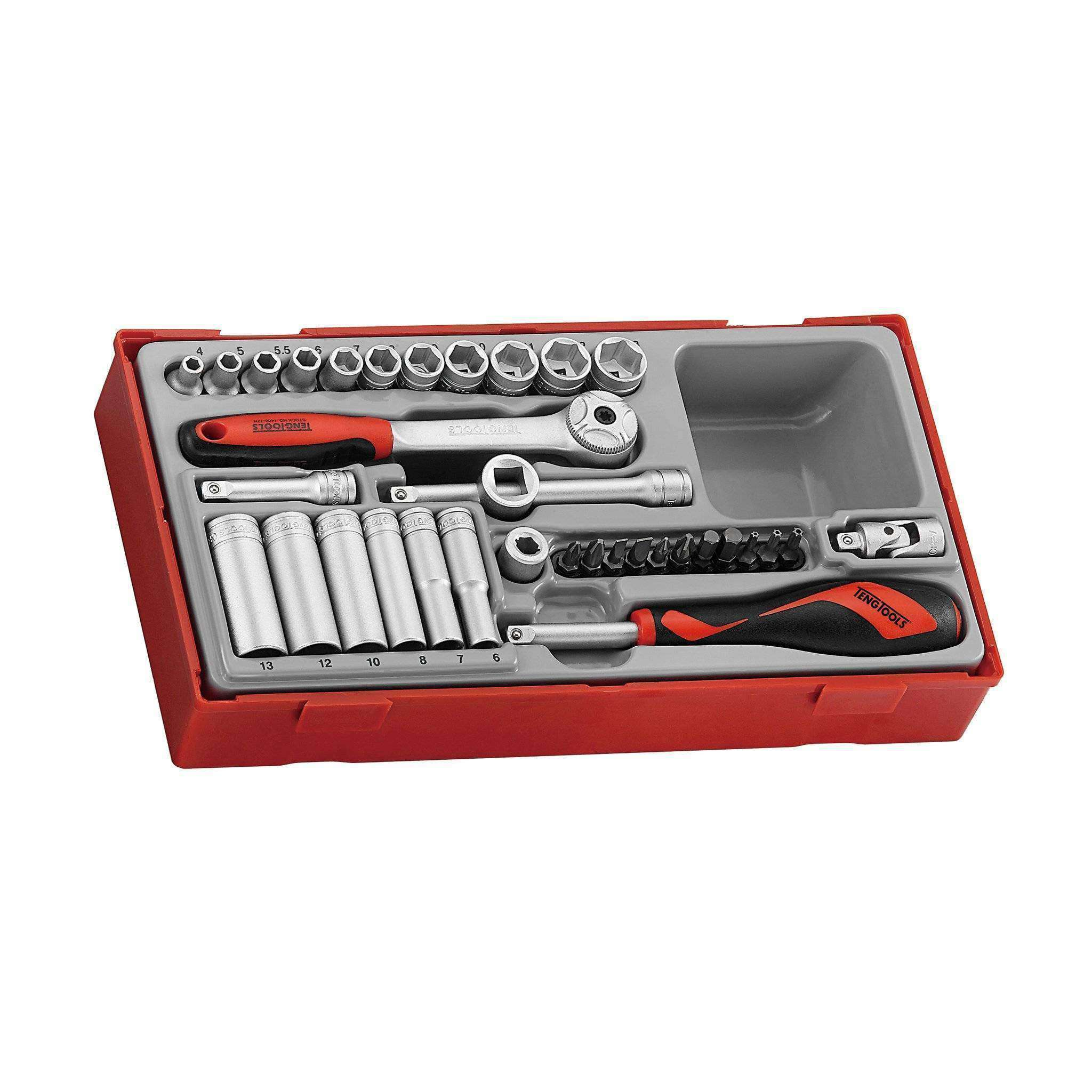 Teng Tools - 35 Piece 1/4 inch Drive Metric Socket Set - TEN-O-TT1435 - Teng Tools USA