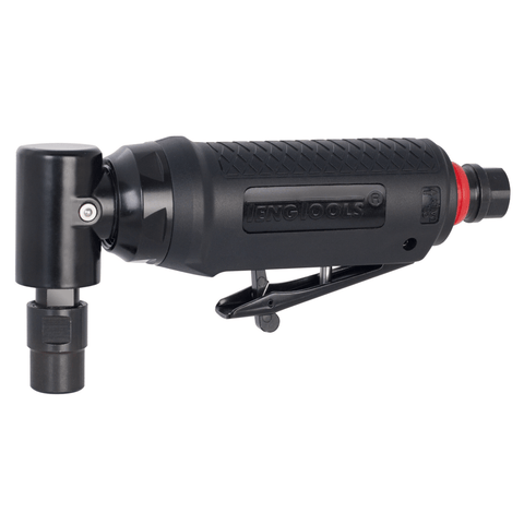 Teng Tools 25,000 RPM Mini Angled Pneumatic Composite Air Die Grinder with Silencer - ARG02