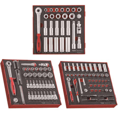 Teng Tools - 152 Piece Mixed Drive Socket Set - TEN-O-TED1227-KIT1 - Teng Tools USA