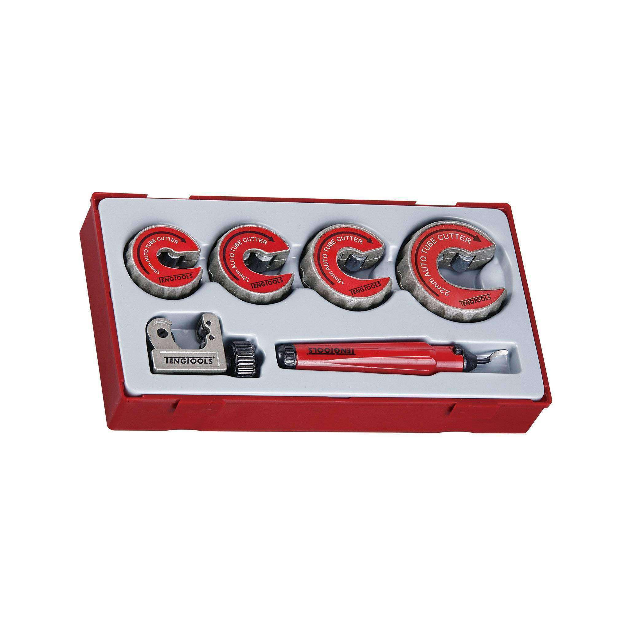 Teng Tools TTTC06 - 6 Piece Pipe Cutter and Deburring Set - Teng Tools USA