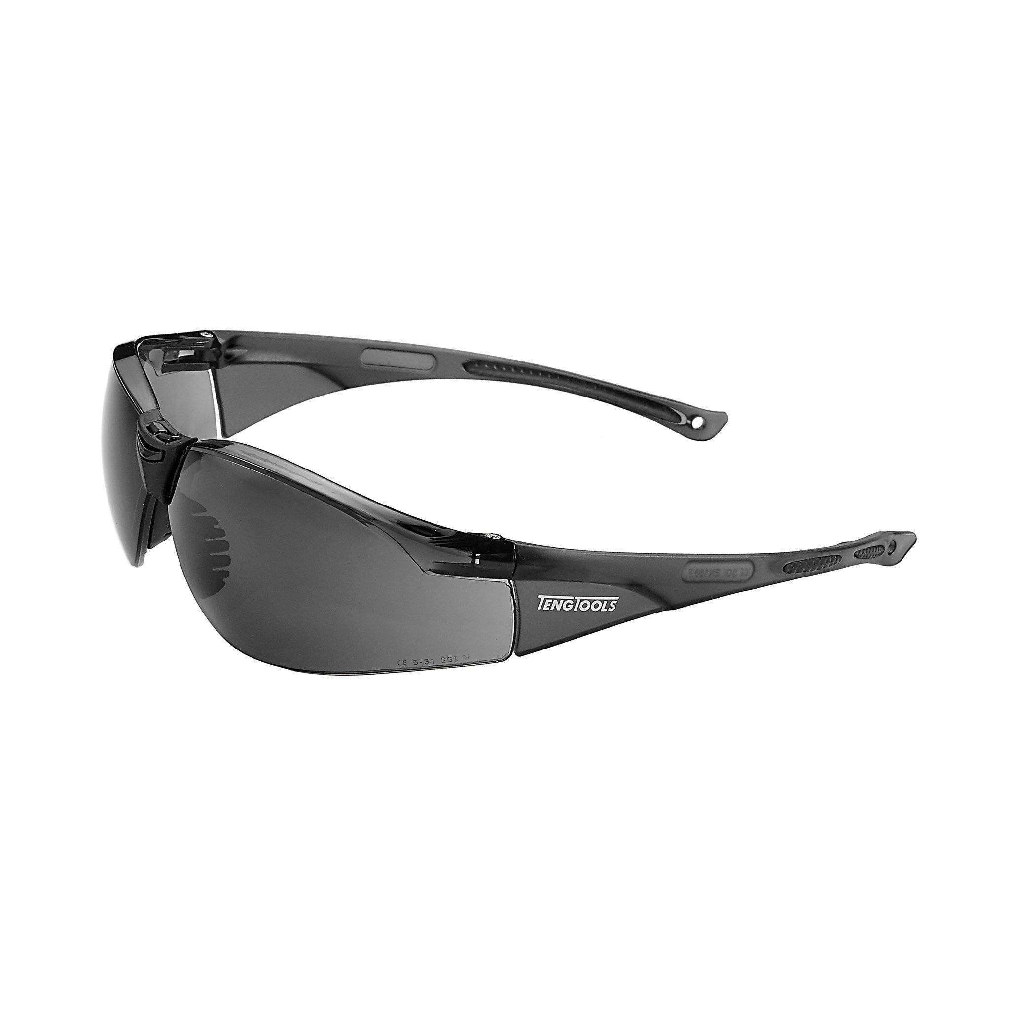 Grey Lens Sports Inspired Design Safety Glasses - Teng Tools SG713G - Teng Tools USA