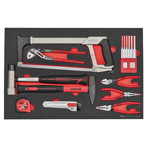 Teng Tools 25 Piece Garage and Auto Mechanics and DIY General Service Repair Tool Set - TTEPS25