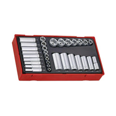 Teng Tools - 32 Piece 1/4 inch-3/8 inch Drive SAE Socket Set - TEN-O-TTAF32 - Teng Tools USA